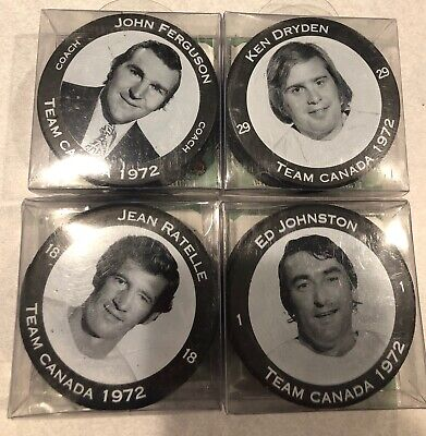 Lot of 4 Team Canada Puck Summit 1972 Team of the Century Bacardi release 2001