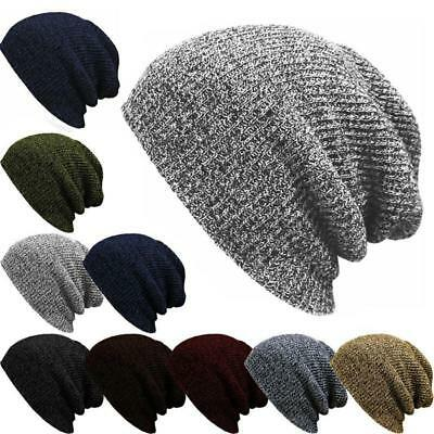 Mens Women Slouch Skull Cap Oversize Warm Beanie Baggy Cap Knit Ski Hat 1PC LG