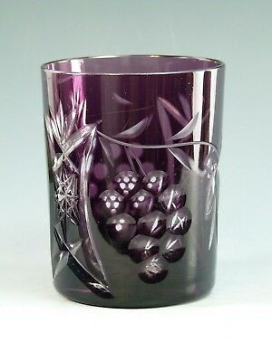 "NACHTMANN Crystal - TRAUBE Design - Tumbler Glass / Glasses - 4"" - Amethyst"