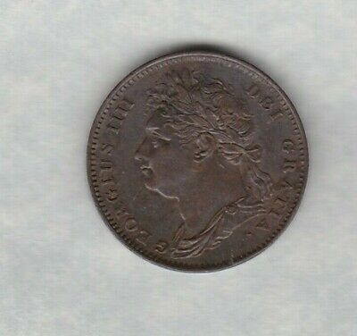 1822 George Iiii Farthing In Good Very Fine Or Slightly Better Condition
