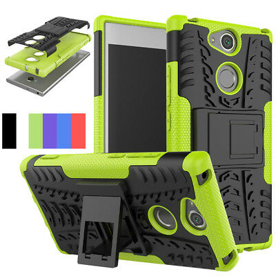 For Sony Xperia XA2/Ultra Tire Armor Case Shockproof Stand Hybrid Armor Cover