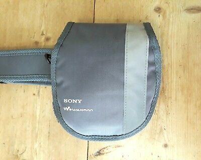 Official Sony Atrac CD Walkman Belt Carry Case Grey Silver