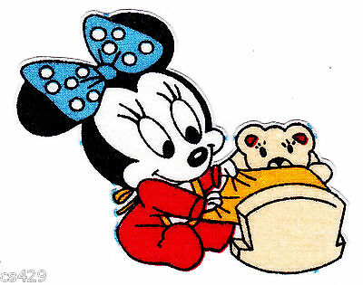 """4.5/"""" Disney minnie mouse daisy bird butterfly fabric applique iron on character"""