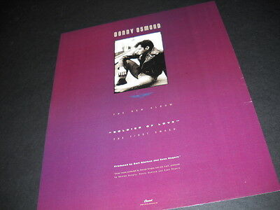 DONNY OSMOND is a Soldier Of Love 1989 PROMO POSTER AD mint condition