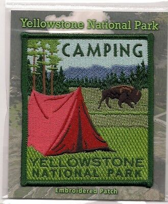 Official Yellowstone National Park Souvenir Camping Patch
