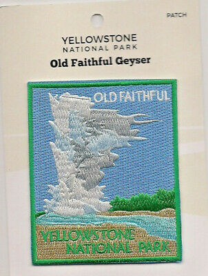 Official Yellowstone National Park Souvenir Patch Old Faithful Geyser