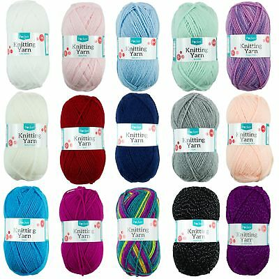 50g Baby Knitting Yarn Acrylic DK Wool Super Soft 16 Colours Double Knit