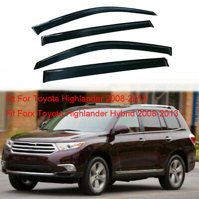 for Toyota Highlander / Hybrid 2008-2012 2013 Window Visor Rain Sun Guard Shade