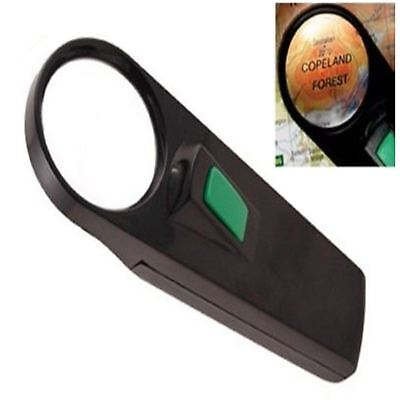 Mini Magnifying Glass Lens With Illuminated Light Magnifier Jewellers Hobby Tool