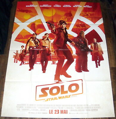 SOLO : A STAR WARS STORY Ron Howard Alden Ehrenreich LARGE French POSTER