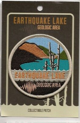 Earthquake Lake Geologic Area Yellowstone National Park Souvenir Patch