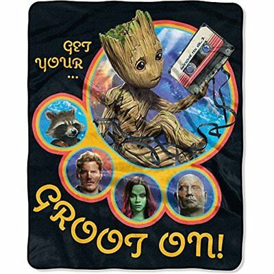 "Marvel Guardians of the Galaxy GROOT Silky Soft 40"" x 50"" Throw Blanket"