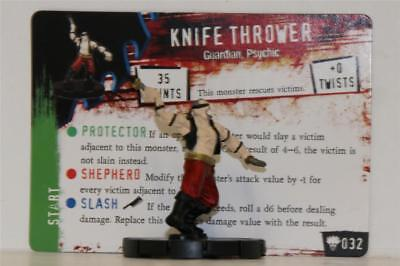 HEROCLIX HORRORCLIX Freakshow # 032 KNIFE THROWER W/CARD