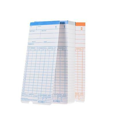 90pc/Pack Time Cards Monthly 2-Sided 18*8.4cm for Attendance Time Clock O7T6
