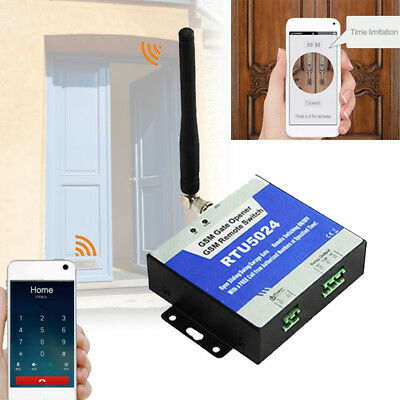 Home Remote Control Access Electric Door SMS GSM Gate Opener System Time Limit