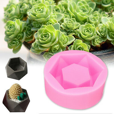 Craft Silicone DIY Mold Flower Pot Candler Soap Aromatic Cake Handmade Mould