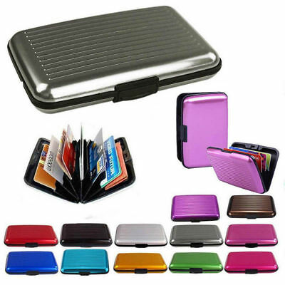 Waterproof Business ID Credit Card Wallet Aluminum Metal Holder Pocket Case Box