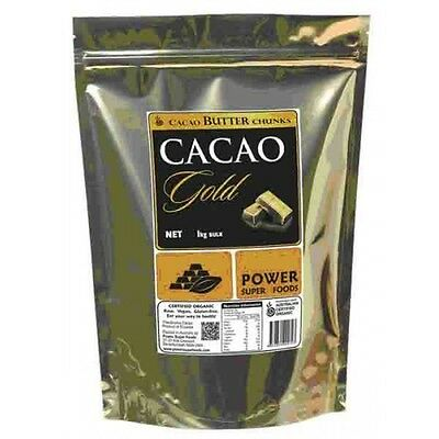 4 x 1kg POWER SUPER FOODS CACAO GOLD POWER Butter Chunks Gluten Free 4kg total