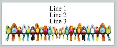 Personalized Address Labels Colorful Parrots Buy 3 get 1 free (BX 517)