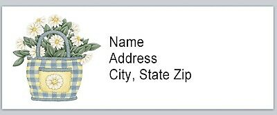 Personalized Address Labels Primitive Country Daisies Buy 3 get 1 free (BX 502)