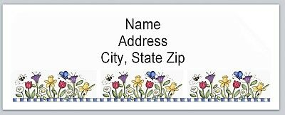 Personalized Address Labels Primitive Country FLowers Buy3 get1 free (BX 504)