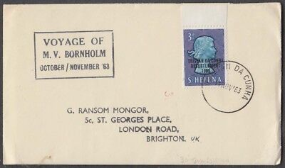 St. Helena 1963 With Tristan Da Cunha Overprint On Voyage Cover To Uk