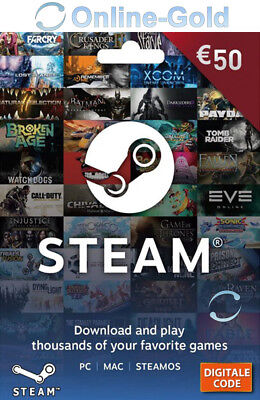50 EUR Steam Guthabencode €50 Euro Guthaben Code Gutschein Key Steam Game Card
