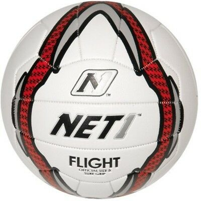 Net1 Women's Flight Netball - White/grey/red, Size 5 - Whitegreyred