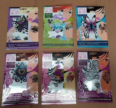 "154 X Kids Giant 6"" Tattoos Sets Wholesale Job Lot Party Lucky Bag Dip Fete"