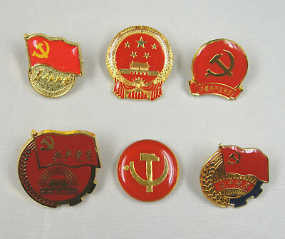 6 Pins China National Emblem, Party Emblem of the China Communist Party