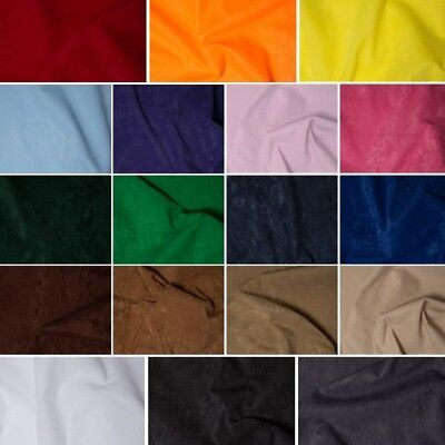 Faux Suede Fabric Look Suedette Dressmaking Polyester Budget 150cm Wide