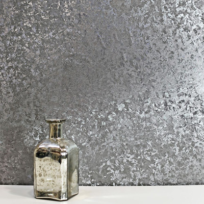 Arthouse Velvet Crush Foil Gunmetal Textured Vinyl Reflective Feature Wallpaper