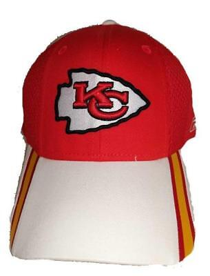 cc70ff5b858 NEW KANSAS CITY Chiefs Mens OSFA Reebok Red White Flexfit Golf Visor ...