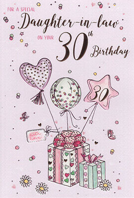 For A Special Daughter In Law On Your 30th Birthday Card 289