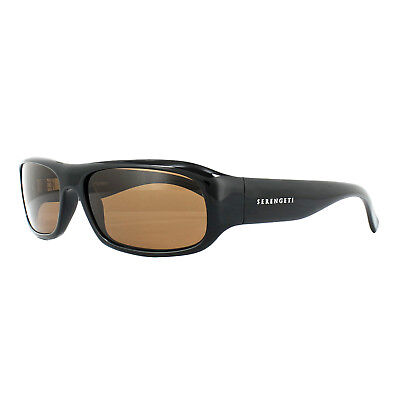 02454af89205 SERENGETI SUNGLASSES GENOVA 7449 Shiny Black Drivers Brown Polarized ...