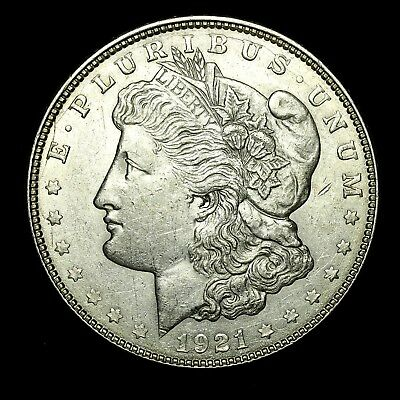 1921 D ~**ABOUT UNCIRCULATED AU**~ Silver Morgan Dollar Rare US Old Coin! #873