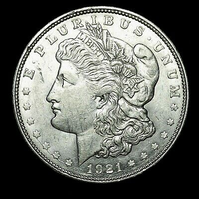 1921 D ~**ABOUT UNCIRCULATED AU**~ Silver Morgan Dollar Rare US Old Coin! #657