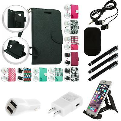 For Nokia Lumia 640 XL Phone Wallet Case With Credit Card ID Slots Strap Combo