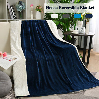 Plush Fleece Blanket Flannel Double Sided Soft Blankets Throw Twin for Sofa Bed