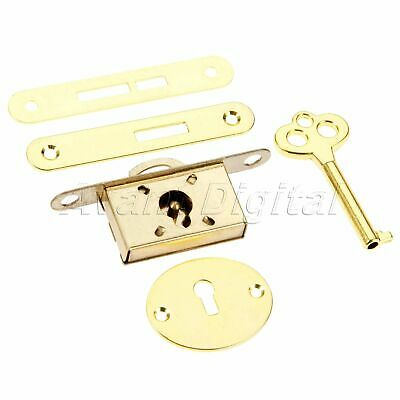Vintage Lock With Key Set Drawer Cabinet Wardrobe Cupboard Jewelry Box Hardware