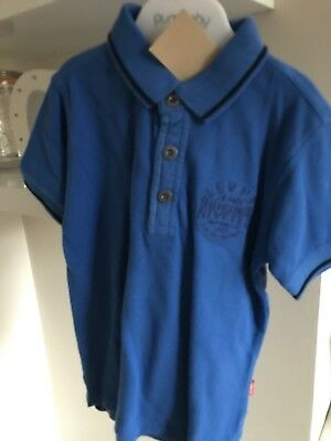 BARGAIN REDUCED LEVIS blue Polo Shirt Age 5 Rrp £32.99 Boys Trim Collar