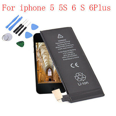 for iPhone 5 5S 6 6Plus OEM Internal Li-ion Battery Replacement +Suction Tools