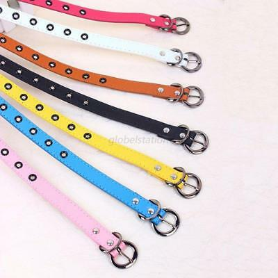 Baby Kids Boys Girls Adjustable PU Leather Casual Candy Color Belt Waistband