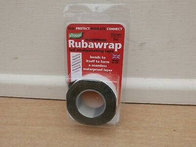Ultratape Waterproof Rubawrap Self Amalgamating Tape 5M X 25Mm Black