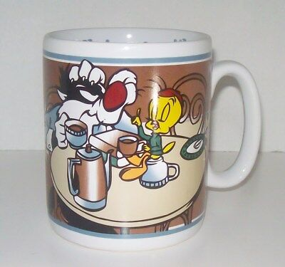 Silvester Cat and Tweety Bird Extra Large Coffee Lover Mug Cup 1995 Warner Bros