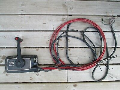 Chrysler Force Us Marine Outboard Side Mount Control Box With Cables Key Trim