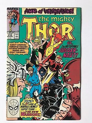 The Mighty Thor #412 Marvel Comics New Warriors App. December 1989 VF+