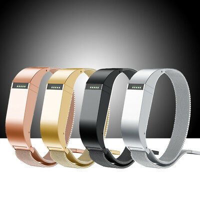 For Fitbit Flex 1 Milanese Loop Stainless Steel Strap Bands L/S + Holder Case