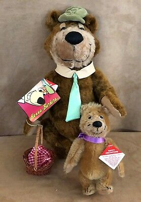 Vintage Yogi Bear & Boo Boo Plush Hanna Barbera Cooperstown Limited Edition tags