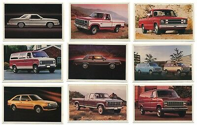 1982 Ford Automobile Car Pickup Truck Van Lot of 9 NOS Dealer Factory Postcards